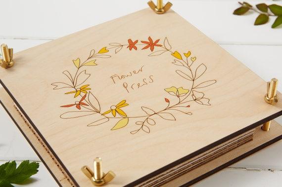 Wooden Flower Press Etsy