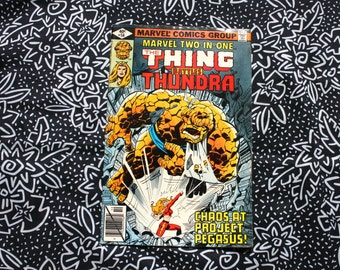 Marvel Two In One #56. The Thing And Tundra Vintage 1979 Bronze Age Comic Book. Rare Fantastic Four Two In One