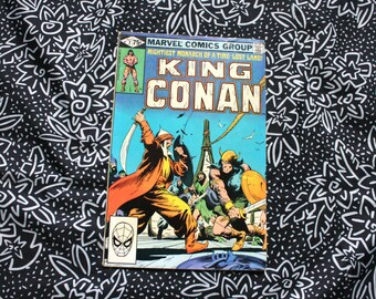 King Conan #7 Vintage Marvel Comic Book. 1981 Barbarian Fantasy Bronze Age 80s Comic Book. Sword And Sorcery Comic From The 80s