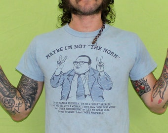 Vintage Chris Farley SNL T Shirt. Matt Foley - Van Down By The River Saturday Night Live T Shirt. Rare Retro Distressed Chris Farley Tee