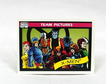 Vintage X-Men Marvel Comics Trading Card. 1990 Marvel Trading Card. Rare 90s Comic Book Trading Card Gift.X-Men Photo Comic Stocking Stuffer