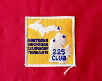 Vintage Body Building Or Bowling Championship Embroidered Patch. Bodybuilding Gift. 225 Club Bowler or Weighlifter Patch.Weightlifting Award