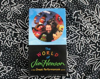 The Wolrd Of Jim Henson Movie VHS Tape. RARE 80s Kid Collectible PBS Special. Awesome 90s Jim Henson Documentary. Jim Hensons Puppets.