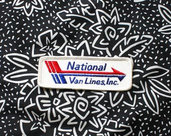 Vintage National Van Lines Embroidered Patch. 70s or 80s Rare Worker Driver Industrial Patch. White Worker Trucker Drink Distro Patch