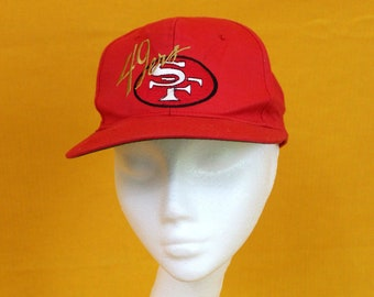San Francisco 49ers Starter Baseball Cap. Retro NFL Football Snapback Hat  From the 90 s. Red and Gold Throwback 49ers Hat. 49ers Gift c94545f96