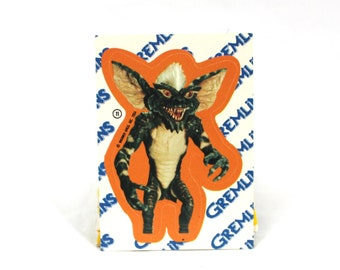 1980s Gremlins Trading Card Sticker. Stripe From Gremlins Sticker. 1980s Movie Sticker. Gremlins Gift. 80s Stocking Stuffer Gift.