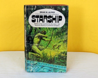 Starship By Brian Aldiss. Vintage Science Fiction Paperback Book. 1970s Vintage Sci Fi Paperback Book. Sci Fi Gift Book. Brian Aldiss Sci Fi