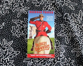 Dudley Do Right VHS Tape. Cult Classic 90s Comedy Brendan Fraser Vhs Movie. Classic Goofball Comedy.  90s Kid Dudley Do Right Movie