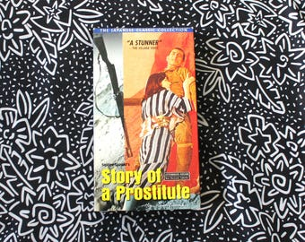 Story Of A Prostitute Rare VHS Movie. Rare Seijun Suzuki Black And White Prostitute Love Story Movie. Criterion Collection OOP Vhs Movie.
