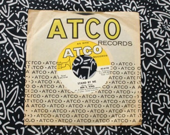 """Ben E King - Stand By Me and On The Horizon Vintage Vinyl 45 7"""" Record. Original 1961 Atco Records R&B Soul Classic. Stand By Me Record"""