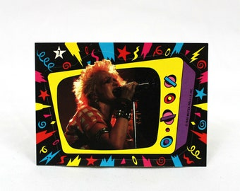 Cyndi Lauper Sticker. Rare 1985 Trading Card Sticker. 80s New Wave Glam Cyndi Lauper Trading Card Retro Sticker. 80s Stocking Stuffer Gift