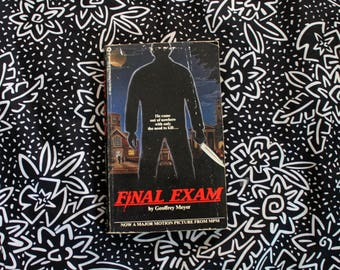 Final Exam By Geoffrey Meyer. RARE 1981 First Edition Paperback. Collectible Murder Horror Serial Killer Ficiton. Horror Pulp 80s Novel