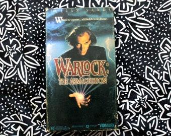 Warlock: The Armageddon Vintage VHS Tape. Rare 90s Horror Occult Movie. Rare OOP 90s Underground Horror VHS. Satanic Horror Movie Vhs Tape