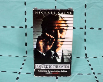 A Shock To The System Vintage VHS Tape. Rare Michael Caine Thriller 80s Movie VHS. Vintage VHS Tape. Vhs Collector. 80s Action pop Vhs