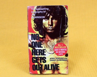 No One Here Gets Out Alive: Biography of Jim Morrison by Jerry Hopkins, Danny Sugerman. Jim Morrison Bio Book. The Doors Gift Book.