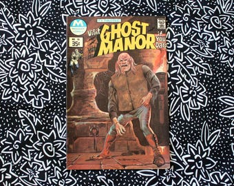 Ghost Manor #19 Vintage Modern Comic Book. 1977 Horror  Fantasy Bronze Age 70s Comic Book. Tales From The Crypt Style Horror Comic Book