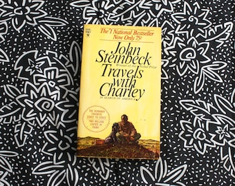 Travels With Charly By John Steinbeck. 1960s Bantam Books Edition Paperback Book. Classic Literature Steinbeck Paperback Book