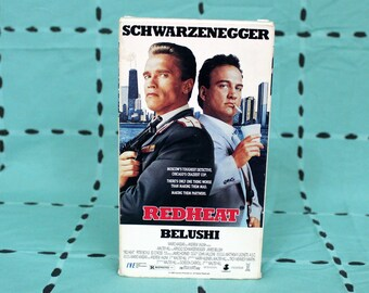 Red Heat Vintage VHS Tape. 80's Classic Violent Action Comedy Movie. Arnold Schwarzeneggar Jim Belushi Buddy Cop Movie. Director Of 48 Hours