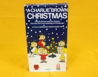 A Charlie Brown Christmas Vintage VHS Tape. Christmas Cartoon Charlie Brown Movie. Christmas Party Gift. Snoopy Movie Gift.