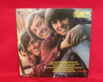 The Monkees - Self TItled - Vintage Vinyl LP - 1966 Monkees Record. 60s Bubblegum Pop Record. The Monkees 60s Music Record. Vintage Vinyl