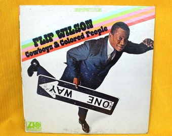 Flip Wilson - Cowboys and Colored People Vintage Vinyl Comedy Lp Record Album. 1967 Atlantic Records Funny Racial Stand Up Comedy