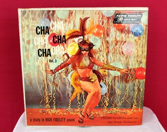 Vintage Cha Cha Music Record. Cha Cha Cha Vol. 3 Cheescake Cover Record. Pedro Garcia Cha Cha Vinyl. 50s Latin Jazz Cha Cha Music Vinyl