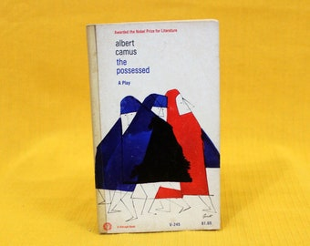 Albert Camus - The Possessed. 1964 First Paperback Book Edition. Albert Camus Existential Novel. Camus Gift Book. French Existentialist