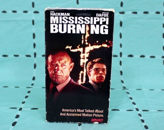 Mississippi Burning Vintage VHS Tape. Southern Civil Rights Movie. Gene Hackman Fighting The KKK Movie. Director Of Pink Floyd The Wall