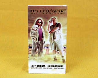 The Big Lebowski Vintage VHS Tape. Cult Classic Coen Brothers Jeff Bridges Movie. The Dude Stoner Comedy. Directors Of Fargo.