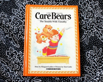 Care Bears 1980s Childrens Storybook. The Care Bears. The Trouble With Timothy. 80s Illustrated Book. 80s Kid Gift. 80s Cartoon Book.