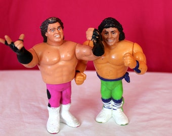 Brutus The Barber Beefcake And Marty Jannety Vintage WWF Action Figure Set.  WWE Collectible Toy made by Hasbro. Vintage Wrestling Toy