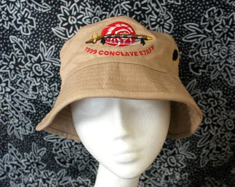Beige Peace Pipe Bucket Hat. Super Fresh Native American Hip Hop Dad Bad Ass Bucket Hat. Pot Head Funky Festival Hat. Hippie Beach Hat.