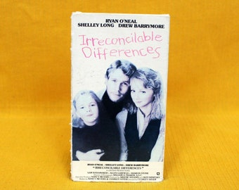 Irreconcilable Differences Vintage VHS Tape. 80s Rom Com Rare VHS Tape Movie. Drew Barrymore, Shelley Long Parent Kid Movie Vhs.