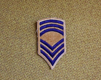 Vintage Military Embroidered Patch. Retro Gold And Navy Blue Military Collectible Patch. Army Air Force Navy Marines Patch