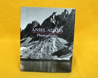 Ansel Adams Small Photography Book. Tiny Little Ansel Adams Black And White Nature Photography Book. Tiny Coffee Table Gift Book
