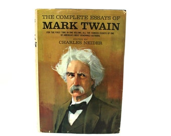 Mark Twain Essays  Etsy The Complete Essays Of Mark Twain Vintage Book Huge Mark Twain Collection  Hardcover Book S Mark Twain Gift Book Buy An Essay Paper also Protein Synthesis Essay  Science Fiction Essay