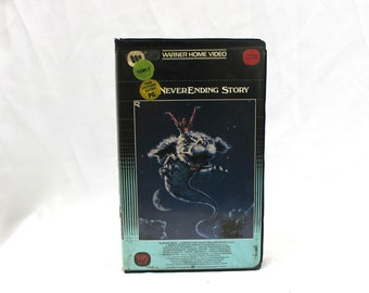 The Neverending Story VHS Tape. Cult Classic 80s Kid Fantasy Movie. Original WB Big Box Clamshell The Neverending Story Rare VHS Movie.