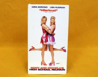 Romy And Michelle's High School Reunion Vintage  VHS Tape. Cult Classic 90s Comedy Vhs Movie. Funny Lisa Kudrow, Mira Sorvino Movie.