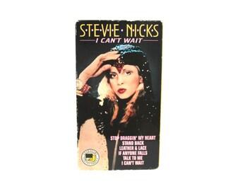 Stevie Nicks - I Can't Wait Vintage VHS Tape. Rare 80s Fleetwood Mac Singer Solo Music Video Concert Vhs. Stevie Nicks 80s Gift VHS Tape