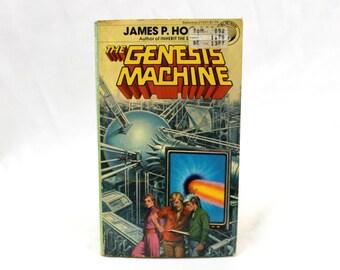 The Genesis Machine By James Hogan. Rare Retro Vintage 1978 First Edition Vintage Paperback Fantasy Book. Sci Fi Book Gift
