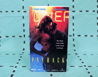 Payback Vintage VHS Tape. Sexy Revenge Cult Classic Movie VHS Tape. Director Of Waxwork. 90s Vidmark B Movie Violent Sex Action Vhs Tape.