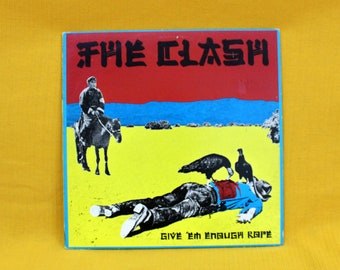 The Clash - Give Em Enough Rope - Vinyl LP Record Album - Rare First Pressing The Clash Record. Rare 70s Punk Record. Joe Strummer Punk