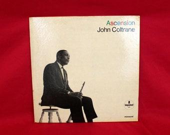 John Coltrane - Ascension Edition 2 -  Vintage Vinyl LP- 1967 Mono Jazz Record. Impulse Records A-95 Mono. John Coltrane Jazz Colletor Gift