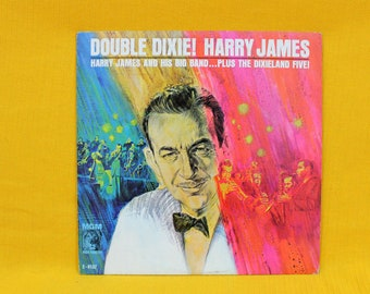 Harry James And His Big Band - Double Dixie! -  Vintage Vinyl LP- 1963 Mono Jazz Record. Dixieland Jazz Vinyl Record First Pressing.