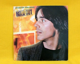 Jackson Browne - Hold Out - Vintage Vinyl LP Record Album - 1980 First Pressing Classic American Dad Rock. Jckson Browne 80s Vinyl LP