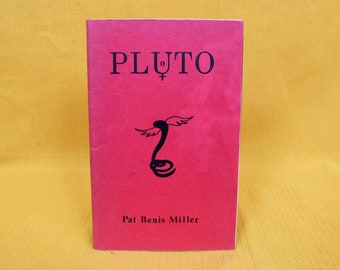 Occult Astrology Book On PLUTO. Rare Pluto Book By Pat Benis Miller. 1978 First Edition PM Books. Rare Esoteric New Age Metaphysical Book