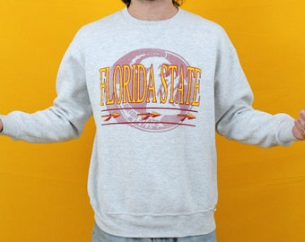 Florida State Seminoles Vintage 90s Sweatshirt. Gray NCAA College Crewneck Sweatshirt. XL Russell Athletic Florida St. Alumni Gift