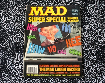 Vintage Mad Magazine Summer 1982 Super Special. Collectible Funny Alfred E Neuman 80s Retro Mad Magazine. 80s Mad Magazine Gift