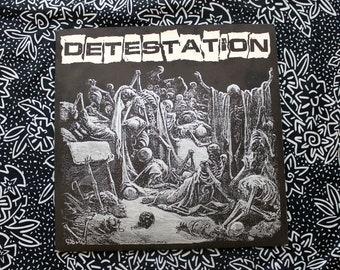 Detestation - Self Titled - Thrash Crust Punk Vinyl LP Record Album - 1998 First Profane Existence Pressing. Political Crust Punk.Aus Rotten