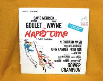 David Merrick's The Happy Time Original Broadway Cast Soundtrack Vintage Vinyl LP Record Album - Original 1968 RCA Vicor. Theater Kid Gift